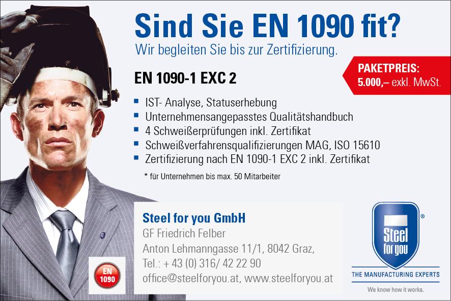 EN 1090 Norm ÖNORM DIN Zertifizierung - Steel for you